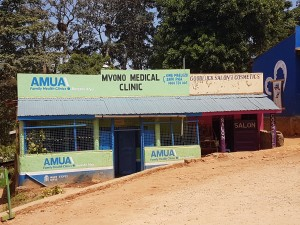 The exterior of Mvono Clinic has been redecorated